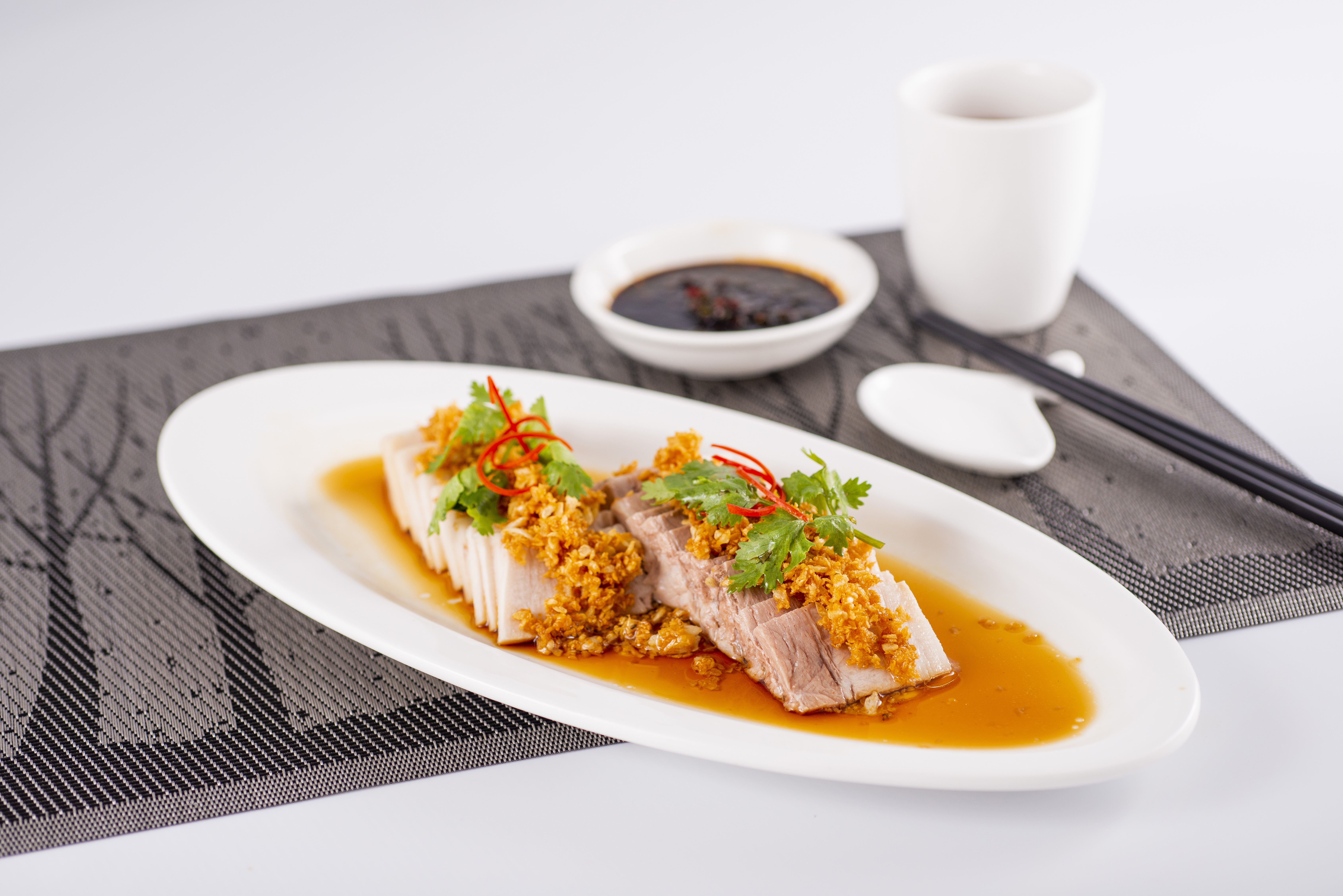 Poached Pork Belly with Minced Garlic 蒜泥白肉